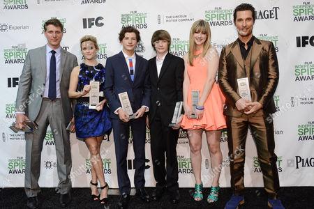 Jeff Nichols, Reese Witherspoon, Tye Sheridan, Jacob Lofland, Bonnie Sturdivant and Matthew McConaughey