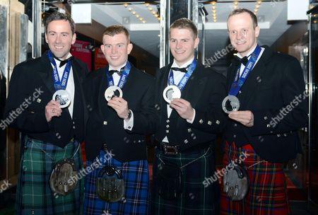 Team GB Men's Curlers Silver Medallists - David Murdoch, Michael Goodfellow, Scott Andrews and Gregg Drummond