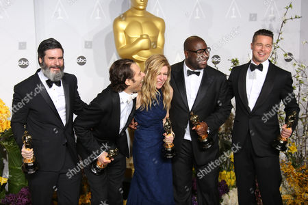 Anthony Katagas, Jeremy Kleiner, Dede Gardner, Steve McQueen, Brad Pitt
