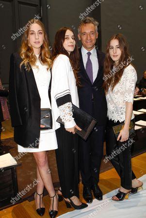Este Haim, Danielle Haim, Geoffroy de la Bourdonnaye and Alana Haim