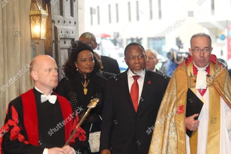 His Excellency Kgalema Motlanthe, Deputy President of the Republic of South Africa arrives at The Great West Door