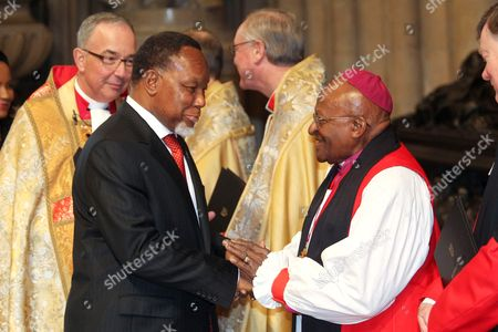 His Excellency Kgalema Motlanthe, Deputy President of the Republic of South Africa meets The Most Reverend Archbishop Desmond Tutu, Archbishop Emeritus of Cape Town
