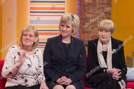 Aled Jones and Lorraine Kelly with Alexandra Barritt, Khristina Swain and Madeleine Moon.