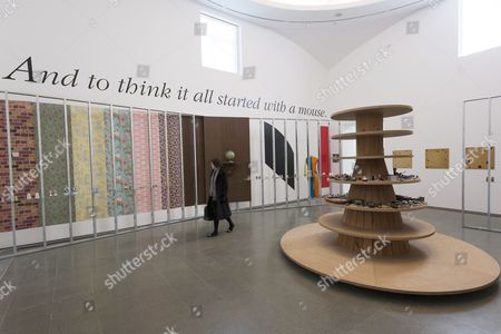 Editorial image of 'Haim Steinbach: Once again the world is flat' Exhibition at the Serpentine Gallery, London, Britain - 04 Mar 2014