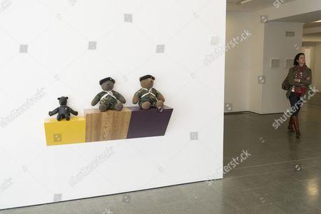 Work titled Basics (1986) by artist Haim Steinbach