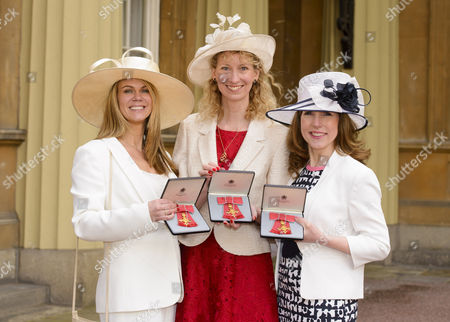Siobhan Freegard, Catherine Court and Sarah Russell Co-founders of Netmums.com receive an MBE For services to Families.