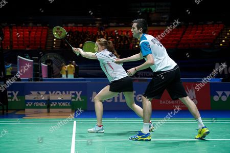 Stock Photo of Matthew Nottingham and Lauren Smith in action on Day One