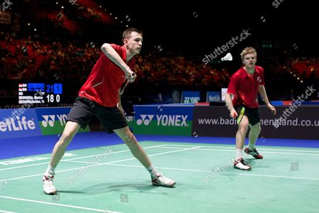 Tom Wolfenden and Marcus Ellis in action on Day One