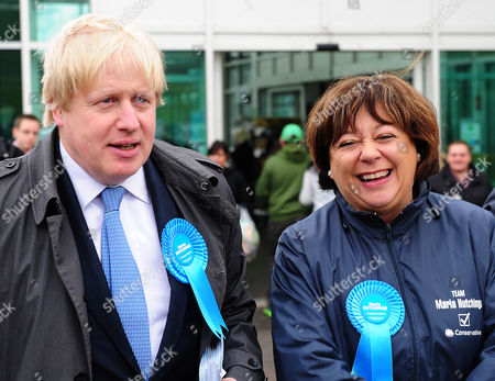 Boris Johnson (left) Visits Asda In Chandlers Ford Eastleigh To Join Maria Hutchings (right) The Conservative Candidate For The Eastleigh By-election To Replace Chris Huhnes Seat. Chandlers Ford  UK  20/02/2013 Hampshire 2013.