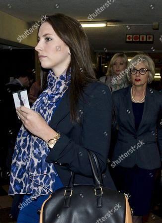 Aimee Pistorius and Lois Pistorius arrive at the Pretoria High Court