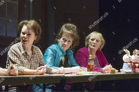 Imelda Staunton as Margaret, Lorraine Ashbourne as Jean, June Watson as Dottie