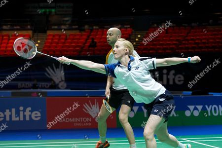 Robert Blair and Imogen Bankier in action on Day Two