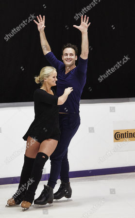 Gary Lucy with pro skating partner Katie Stainsby during training for Dancing On Ice 2014