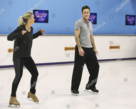 Stock Photo of Gary Lucy with pro skating partner Katie Stainsby during training for Sundays Show