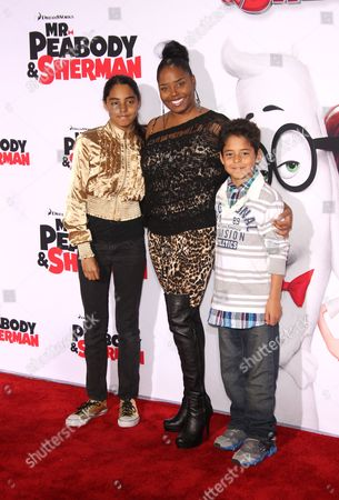 Shar Jackson and kids Kori Madison Federline and Kaleb Michael J