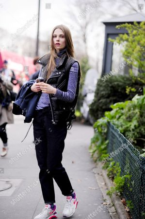Editorial picture of Street Style, Paris Fashion Week, France - 04 Mar 2014