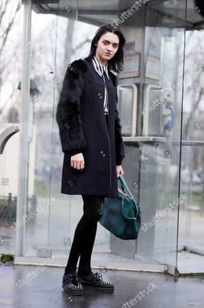 Editorial photo of Street Style, Paris Fashion Week, France - 04 Mar 2014
