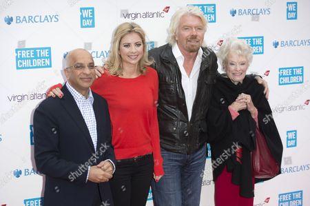 Lord Rumi Verjee, Holly Branson, Sir Richard Branson and Eve Branson