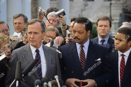 Editorial photo of President George H W Bush