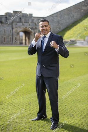 Stock Image of Quinton Shillingford after receiving an OBE