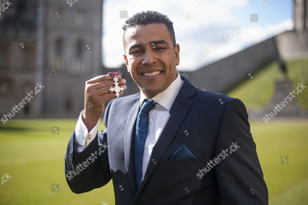 Quinton Shillingford after receiving an OBE