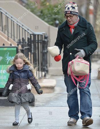 Matthew Broderick with daughter Marion Broderick