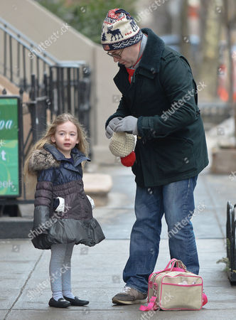 Stock Picture of Matthew Broderick with daughter Marion Broderick