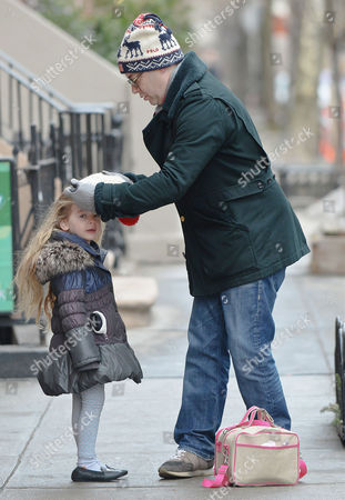 Editorial picture of Mathew Broderick takes his daughters Marion and Tabitha to school, New York, America - 07 Mar 2014