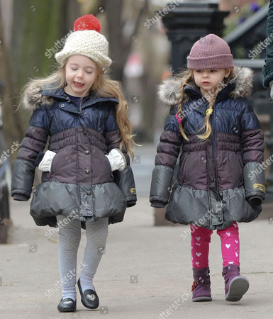 Editorial image of Mathew Broderick takes his daughters Marion and Tabitha to school, New York, America - 07 Mar 2014