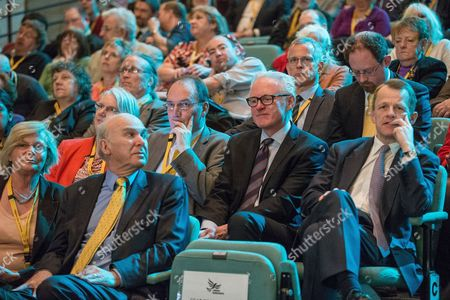 Vince Cable, Simon Hughes, Brian Paddick, Jullian Huppert, David Laws in the audience