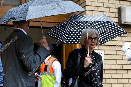 Lois Pistorius leaving the Pretoria High Court
