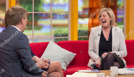 Aled Jones and Lorraine Kelly with Jacqui Marson