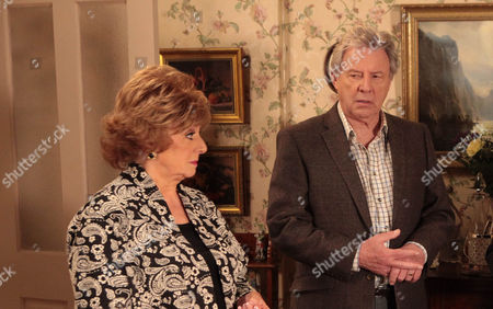 Ep 8304 Monday 20 January 2014 - 1st Ep Gloria Price, as played by Sue Johnston, has suggested to Dennis Tanner, as played by Philip Lowrie, it's time they organised another concert much to Rita Tanners', as played by Barbara Knox, annoyance.