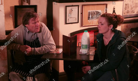 Ep 8310 Monday 27 January 2014 - 2nd Ep Roy Cropper, as played by David Neilson, admits to a devastated Fiz Stape, as played by Jennie McAlpine, that Hayley took her own life. Full of fury that Roy never told her of Hayley's plans she condemns Roy and Anna for lying to her.