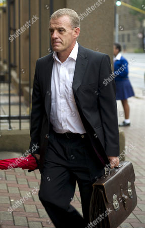 Advocate Gerrie Nel arrives at the Pretoria High Court