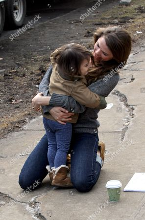 Stock Picture of Keri Russell hugs her daughter Willa Lou Deary