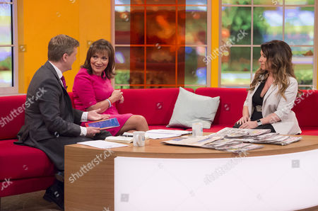 Aled Jones and Lorraine Kelly with Jacqueline Gold