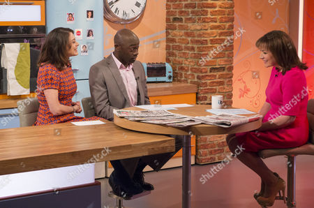 Katie Nicholl and Henry Bonsu with Lorraine Kelly