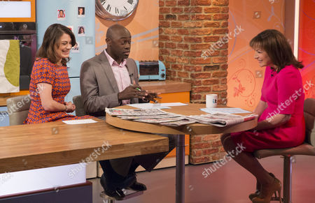Stock Image of Katie Nicholl and Henry Bonsu with Lorraine Kelly