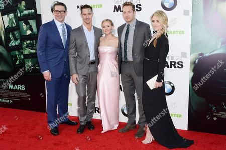 Rob Thomas, Jason Dohring, Kristen Bell, Ryan Hansen and Amanda Noret