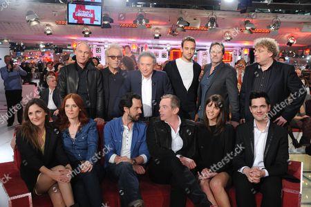 Stock Image of Garou Lors, Luc Plamondon Garou Lors and Luc Plamondon, Camille Chamoux, Audrey Fleurot, Gerald de Palmas, Yoann Freget