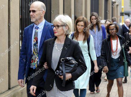 Arnold Pistorius and Lois Pistorius arrive at the Pretoria High Court