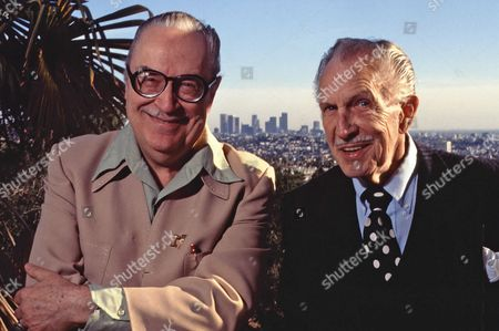 Vincent Price with Forrest Ackerman - February 1989