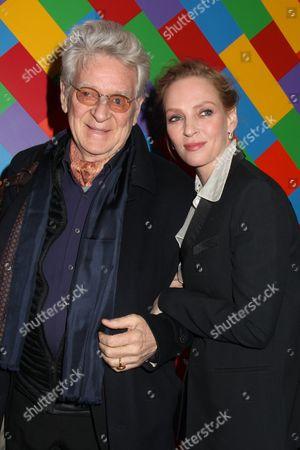 Uma Thurman and her father Robert Thurman