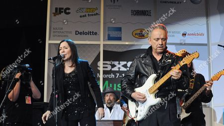 Stock Image of Lou Ann Barton with Jimmie Vaughan