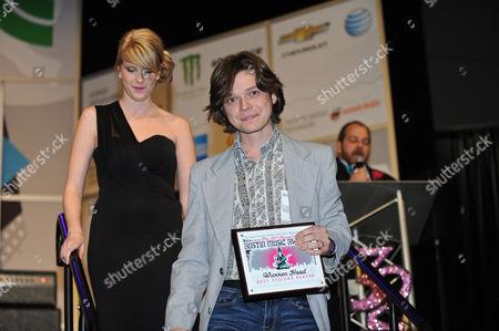 Stock Picture of Warren Hood receives Best String Player award
