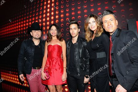Jorge Bernal, Daisy Fuentes, Prince Royce, Natalia Jimenez and Roberto Tapia