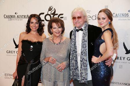 Stock Image of Beatrix Bilgeri, Claudia Cardinale Reinhold Bilgeri and Laura Bilgeri