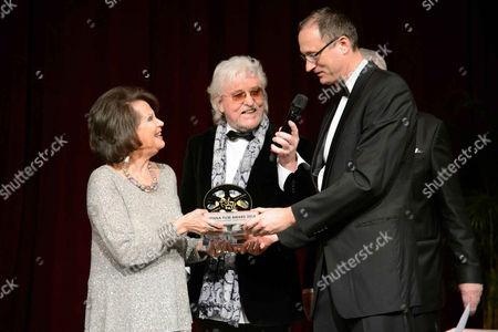 Claudia Cardinale, Andreas Mailath-Pokorny and Reinhold Bilgeri