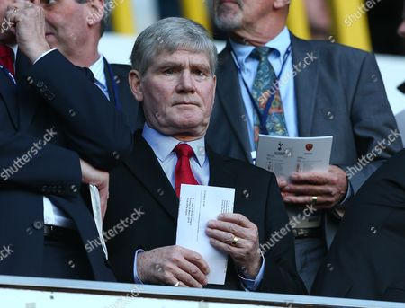 Former Arsenal player and assistant manager Pat Rice in the stands